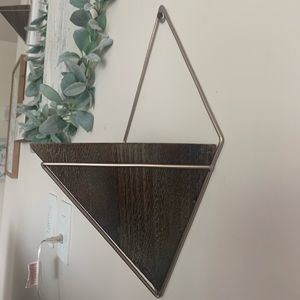 Triangle faux plant holder